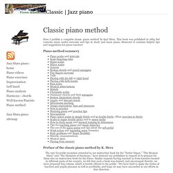 classic piano method : how to play piano
