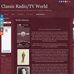 Classic Radio/TV World: Radio Station