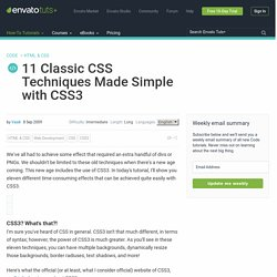 11 Classic CSS Techniques Made Simple with CSS3
