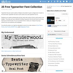 25 Classic Typewriter Font Collection