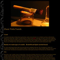 Classic Violin Varnish