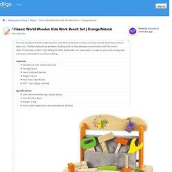 Classic World Wooden Kids Work Bench Set