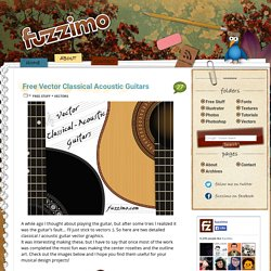 Free Vector Classical Acoustic Guitars