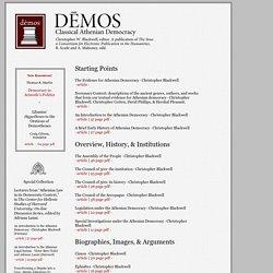 Dēmos: Classical Athenian Democracy