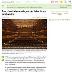 Free classical concerts you can listen to and watch online