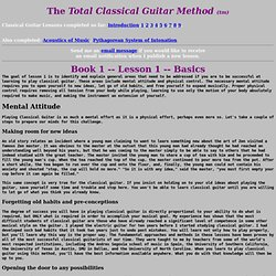 The Total Classical Guitar Method (tm) Lesson 1-Basics