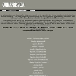 Classical guitar sheet music and tabs FREE!