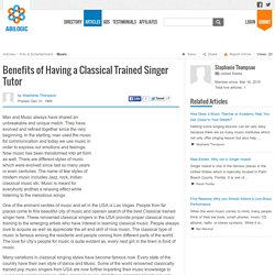 Benefits of Having a Classical Trained Singer Tutor