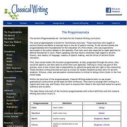 Classical Writing Progymnasmata