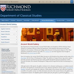 Ancient World Gallery - Classical Studies - School of Arts & Sciences - University of Richmond