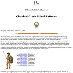 Classical Greek Shield Patterns