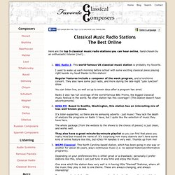 Classical Music Radio Stations - The Best Online - Vimperator (사생활 보호 모드)