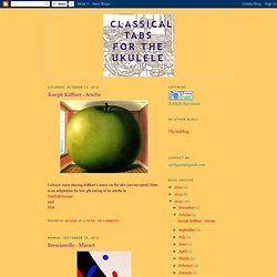 Classical tabs for the ukulele