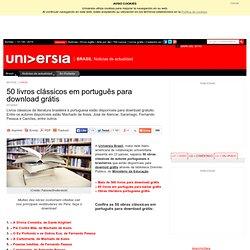 50 livros clássicos em português para download grátis