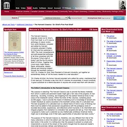The Harvard Classics / Dr. Eliot's Five Foot Shelf : Free Books : Free Texts : Download & Streaming