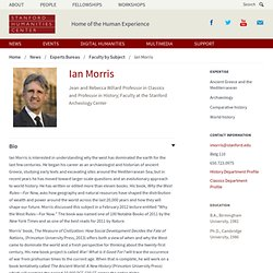 Classics and History Expert - Ian Morris | Humanities at Stanford