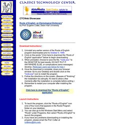 Classics Technology Center: The Roots of English