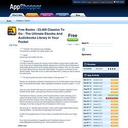 Free Books - 23,469 classics to go. (Books)