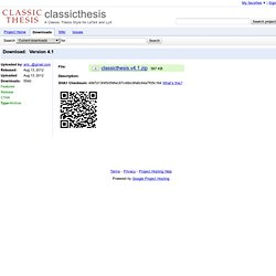 classicthesis.v4.1.zip - classicthesis - Version 4.1 - A Classic Thesis Style for LaTeX and LyX