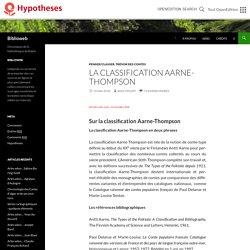 La classification Aarne-Thompson
