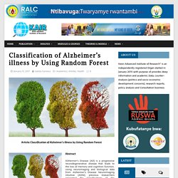 Classification of Alzheimer's illness by Using Random Forest – Keen Advance Institute of Research