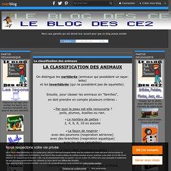 La classification des animaux - Le blog des CE2