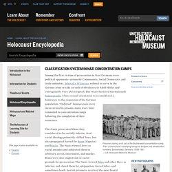 Système de Classification des détenus dans les camps de concentration nazis