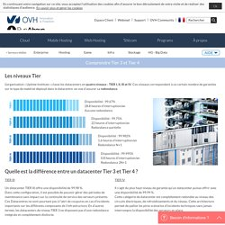Tier 3 / Tier 4 : la classification des datacenters