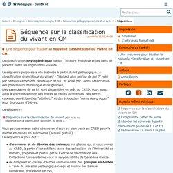 Séquence sur la classification du vivant en CM - Pédagogie - Direction des services départementaux de l'éducation nationale de la Vienne
