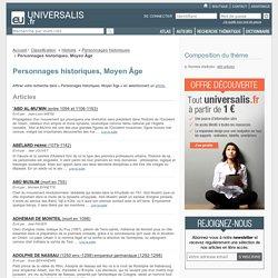 personnages historiques, moyen âge - classification thématique - Encyclopædia Universalis