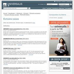 écrivains russes - classification thématique - Encyclopædia Universalis