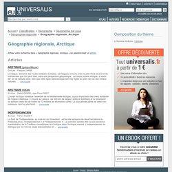 géographie régionale, arctique - classification thématique - Encyclopædia Universalis