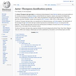 Aarne-Thompson sistema de clasificación - Wikipedia, la enciclopedia libre