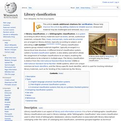 Library classification