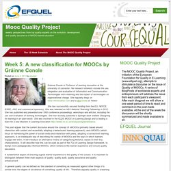 A new classification for MOOCs – Gráinne Conole