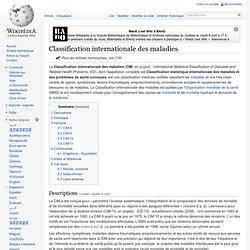 Classification internationale des maladies