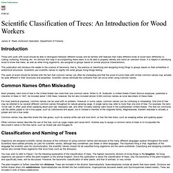 FOR-61: Scientific Classification of Trees: An Introduction for Wood Workers