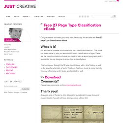 Free 27 Page Type Classification eBook