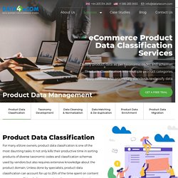 eCommerce Product Data Classification & Management Services