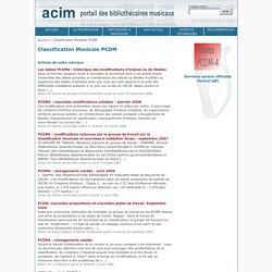 Classification Musicale PCDM