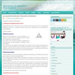 LA CLASSIFICATION DES MALADIES MENTALES ~ Maladies et Troubles Psychiques