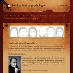 La classification des émotions - Les émotions en psychologie