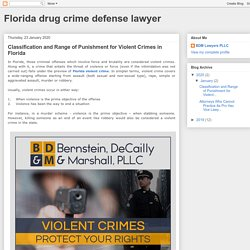 Classification and Range of Punishment for Violent Crimes in Florida