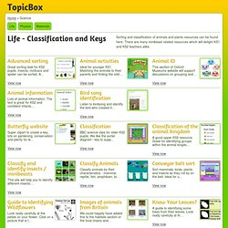 Life - Classification and Keys teaching resources at TopicBox.net