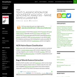 Text Classification for Sentiment Analysis – Naive Bayes Classifier