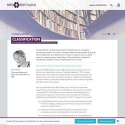 Classification - Technical Support - NBS BIM Toolkit