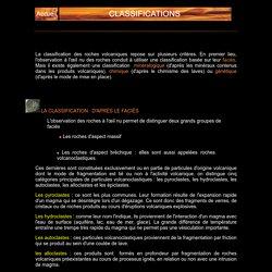 CLASSIFICATION DES ROCHES VOLCANIQUES ET DES TYPES D'ERUPTION
