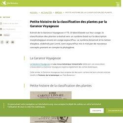Petite histoire de la classification des plantes par la Garance Voyageuse