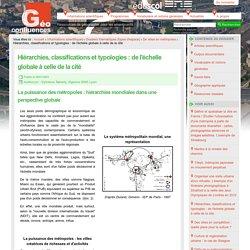 Hiérarchies, classifications et typologies : de l'échelle globale à celle de la cité