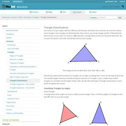 Triangle Classifications